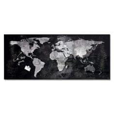 Sigel Sklenená tabuľa artverum 130x55cm mapa sveta