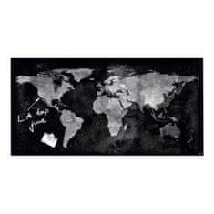 Sigel Sklenená tabuľa artverum 91x46cm mapa sveta