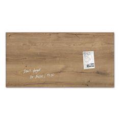 Sigel Sklenená tabuľa artverum 91x46cm prírodné drevo