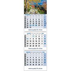 Spektrum Grafik Plánovací kalendár Klasik 3-mesačný modrý, 295x925 mm 2020