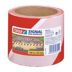 Tesa Výstražná páska nelepivá Signal 80mmx100m červeno-biela