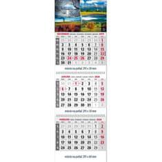 Spektrum Grafik Plánovací kalendár Klasik 3-mesačný sivý, 295x925 mm 2020