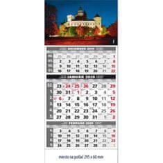 Spektrum Grafik Plánovací kalendár štandard 3-mesačný sivý 295x663 mm 2020
