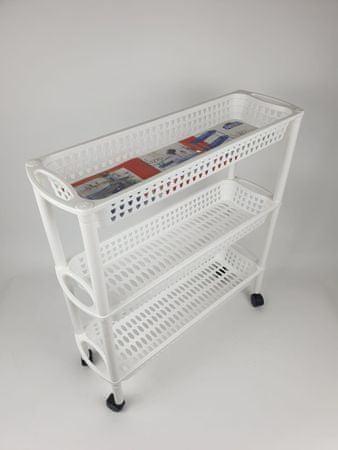 Heidrun Wózek z koszykami, wąski, biały
