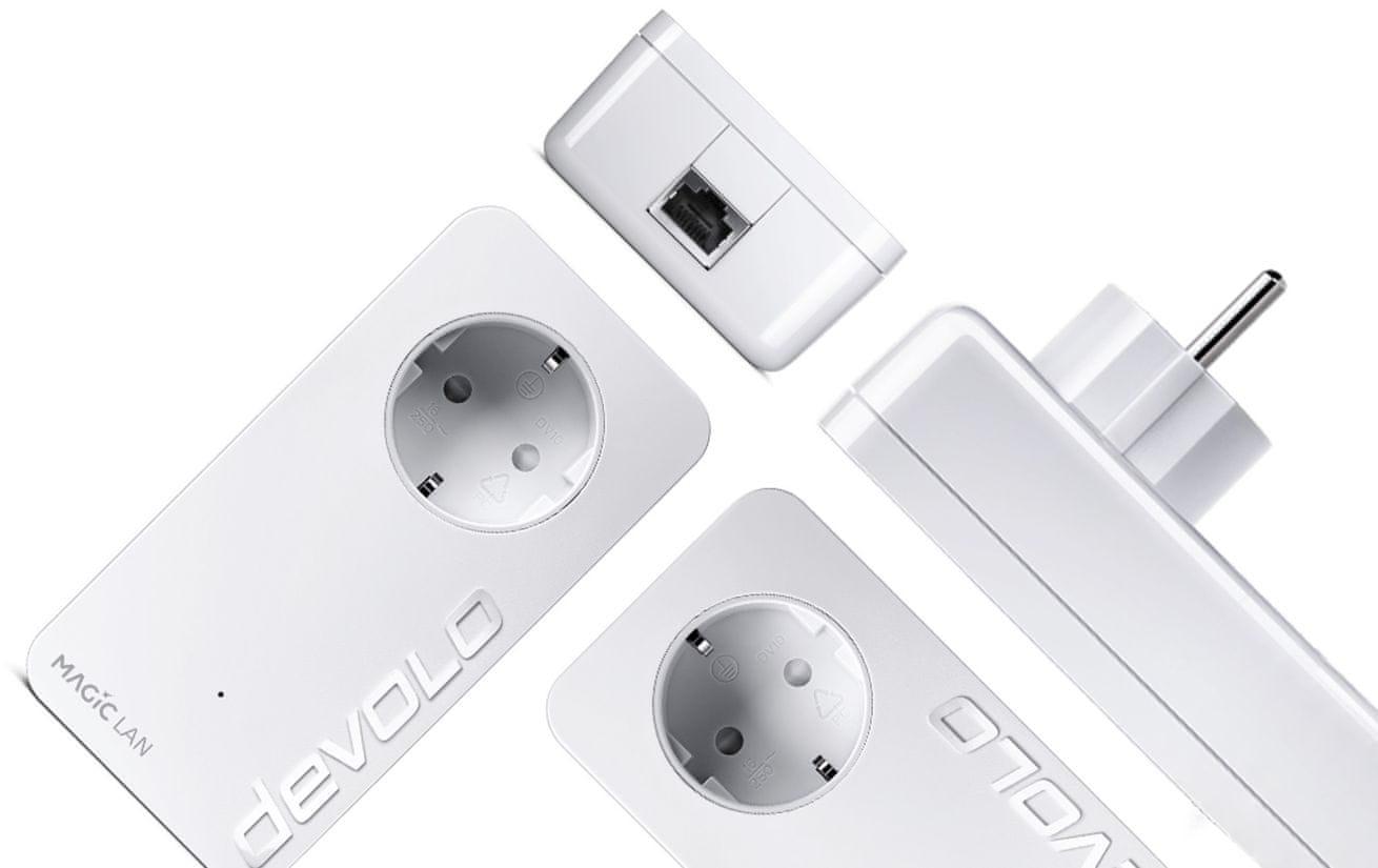Powerline Devolo Magic 2 LAN 1-1-1 addition dlhý dosah rýchly stabilný internet pokrytie až 400 m
