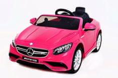 Beneo Elektromos kisautó gyerekeknek Mercedes-Benz S63 AMG Eredeti Liszensz, Pink, lengéscsillapított, EVA