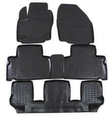 J&J Automotive Gumové koberce se zvýšeným okrajem Ford Galaxy 2006-