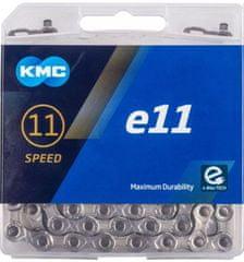 KMC řetěz E11 stříbrný 122čl. BOX
