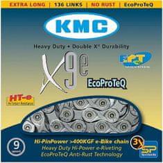 KMC řetěz E9EPT stříbrný 136čl. BOX