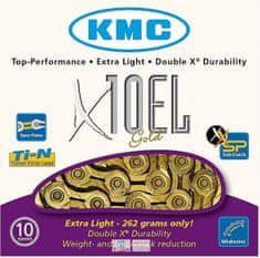 KMC řetěz X10EL zlatý 114 čl. BOX