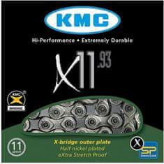 KMC řetěz X11.93 černo-stříbrný 118čl. BOX