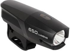 Smart osvětlení přední 186 USB černé 650lm