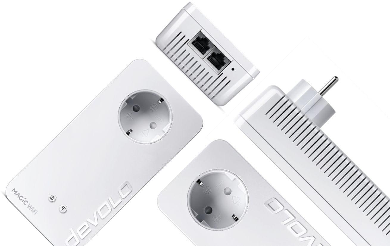 Powerline Devolo Magic 1 WiFi 2-1-1 Addition dlhý dosah rýchly stabilný internet pokrytie až 400 m
