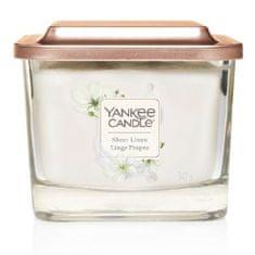 Yankee Candle Aromatická svíčka střední hranatá Sheer Linen 347 g