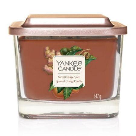 Yankee Candle Aromatična sveča srednje kvadratna začimba sladke pomaranče 347 g
