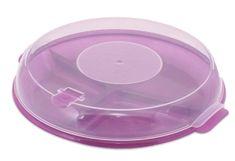 BRANQ Trojdielny tanier do mikrovlnnej rúry s pokrievkou-P1187