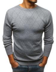 BUĎCHLAP Vzorovaný šedý sveter