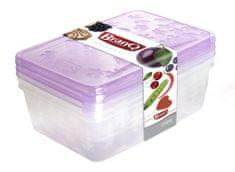 BRANQ Sada dóz na potraviny Rukkola 2x0,9l + 1,35l - obdĺžniková-P1135
