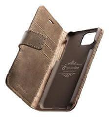 CellularLine Prémiové kožené pouzdro typu kniha Supreme pro Apple iPhone 11 Pro, hnědé (SUPREMECIPHXIN)