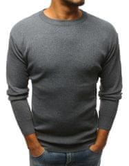 BUĎCHLAP Originálny sveter v šedej farbe