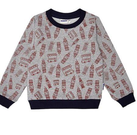 WINKIKI Gray melange pulover za dječake, 98