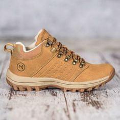 Krásné zlaté kotníčkové boty dámské bez podpatku + dárek zdarma