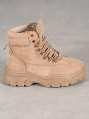 Vices Designové hnědé dámské kotníčkové boty bez podpatku