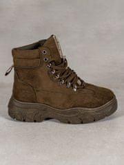 Vices Módní zelené kotníčkové boty dámské bez podpatku