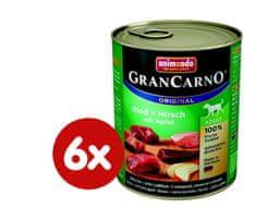 Animonda mokra hrana za odrasle pse GranCarno, jelenje meso + jabolko, 6 x 800 g