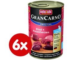 Animonda mokra hrana za mlade pse GranCarno, govedina + puranje srce, 6 x 400 g