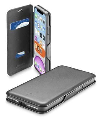 CellularLine preklopna torbica s magnetom za iPhone 11, crna