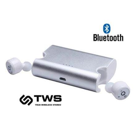 Platinet PM1080W Bluetooth True Wireless slušalke, bele - Odprta embalaža