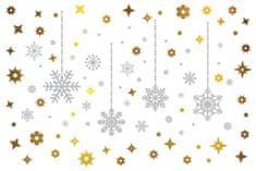 Walplus Zářivé vánoční vločky C2W0002
