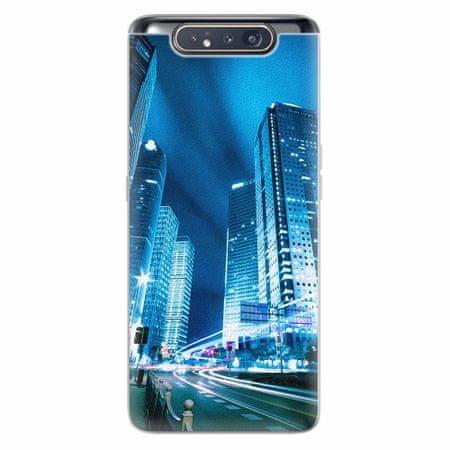iSaprio Silikonové pouzdro - Night City Blue - Samsung Galaxy A80