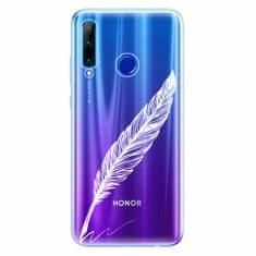 iSaprio Silikonové pouzdro - Writing By Feather - white - Huawei Honor 20 Lite
