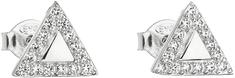 Evolution Group Ezüst fülbevaló cirkóni fehér háromszöggel 11042.1 ezüst 925/1000