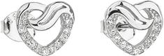 Evolution Group Ezüst fülbevaló cirkóni fehér szívvel 11114.1 ezüst 925/1000