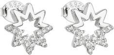 Evolution Group Ezüst fülbevaló cirkóni fehér csillaggal 11054.1 ezüst 925/1000