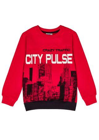 WINKIKI fantovski pulover, rdeč, 128