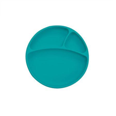 Minikoioi otroški krožnik iz silikona in vakumsko pritrditvijo, zelena