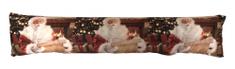 DUE ESSE Polštář svítící Santa u krbu, 6x LED