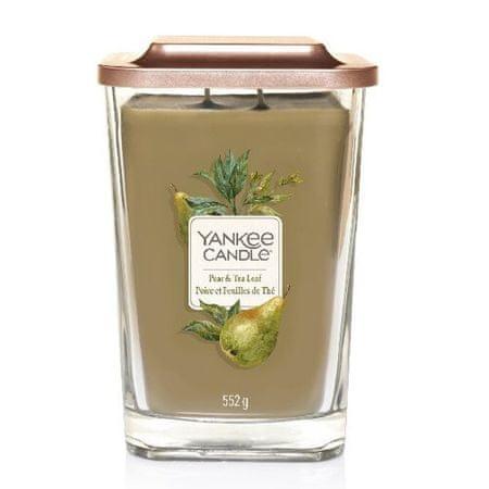 Yankee Candle Aromatická svíčka velká hranatá Pear & Tea Leaf 552 g