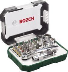 Bosch Sada bitov s račňou, 26 dielna (2607017322)