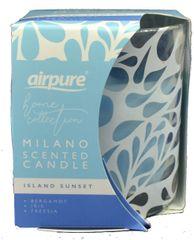 Airpure MILANO vonná svíčka 100 g Island Sunset