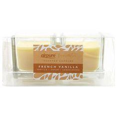 Airpure HOME vonná svíčka 2 x 42 g French Vanilla - 2x 7 h