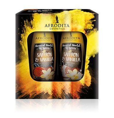 Kozmetika Afrodita Saffron & Vanilla darilni paket