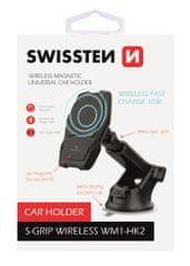 SWISSTEN Gravity magnetski držač za telefon s bežičnim punjenjem S-GRIP S WM1-HK2, 65010604