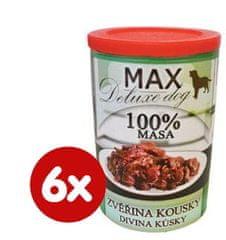 FALCO karma dla psów MAX deluxe kawałki dziczyzny, 6 x 400 g