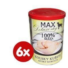 FALCO karma dla psów MAX deluxe kawałki kurczaka, 6 x 400 g