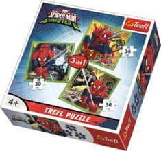 Trefl Puzzle Dokonalý Spiderman vs. Šílená šestka 3v1 (20,36,50 dílků)